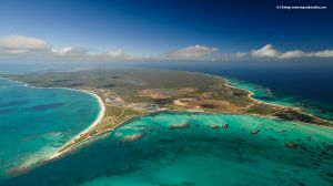 Wa'Omoni (Barbuda) Aerial from 1.5 Miles Away