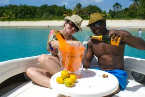 Guest on a Life's-a-Picnic Champagne Charter